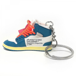 Air Jordan 1 retro high Off White University Blue portachiavi sneaker da collezione