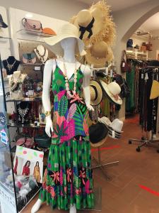 Robe longue imprimeé vert | Vêtements femme  en ligne