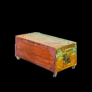 Baule in legno di teak recuperato