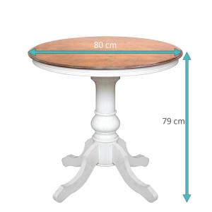 Mesa redonda bicolor 80 cm diámetro