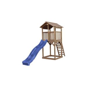 Beach Tower Basic Marrone con scivolo blu Axi Playhouse
