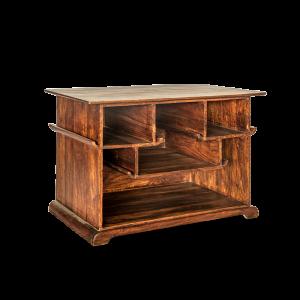 Mobile libreria bassa / Porta Tv in legno di sheesham (palissandro indiano)