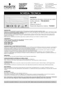 MASCHERINA 3 VELI 10 PEZZI BIANCA ELASTICO ARANCIO FLUO MASKITA