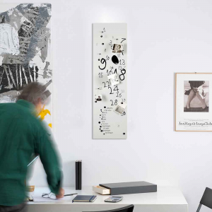 Calendario e organizer decorativo da muro Krok3 bianco 30x100 cm