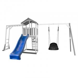 Beach Tower con arrampicata scivolo e altalena Roxy Nest Grey/white Axi Playhouse