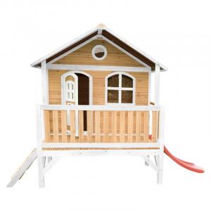 Casetta per Bambini in legno di Cedro Stef Playhouse Brown/white