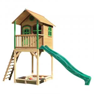 Romy casetta per bambini Axi Playhouse Brown/green