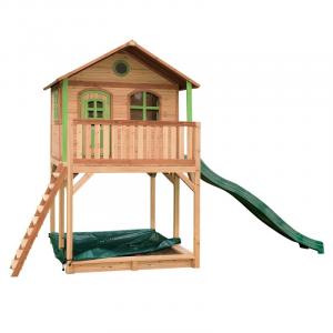 Casetta per Bambini in legno di Cedro Andy Playhouse Brown/green