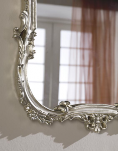 Classic mirror in gold or silver leaf