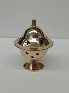 Brucia incenso a campana in ottone