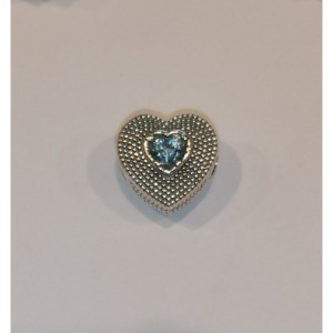 Ciondoli per bracciale componibile S'Ave Maria in argento modello granulato