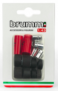 Set pneumatici - Tyres set per Ferrari 126 C2 1982 2 set pneumatici 2 set cerchioni 2 fusti cerchioni 1/43 Brumm
