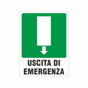 Cartello Uscita di emergenza sopraporta