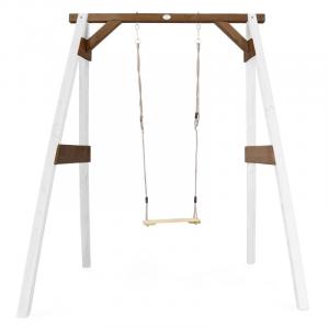 AXI Altalena per bambini in legno da giardino White/brown