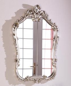 Miroir style baroque feuille d'or ou argent