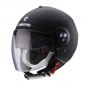 C6FA0017#S CASCO CABERG JET RIVIERA V3 MATT BLACK TG: S