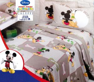 CALEFFI Disney Copriletto stampato Panama MICKEY PLUTO Singolo, 1 piazza e mezza