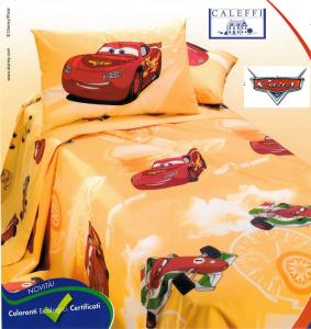 CALEFFI, Disney. Copriletto stampato Panama CARS CORSA 1 piazza e mezza