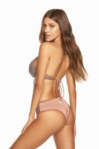Bikini con ferretto a cuore in paillette Cotazur