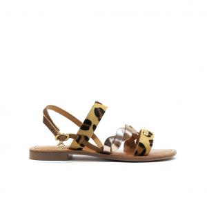 Sandalo tan/animalier Gardini