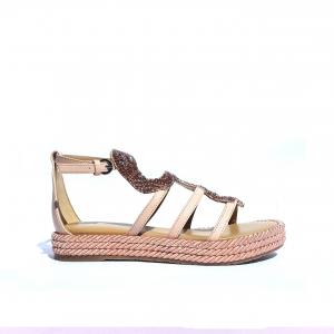 Sandalo basso rosa con serpente Apepazza