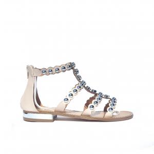 Sandalo nudo con borchie Gardini