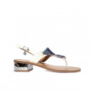 Sandalo infradito bianco Gardini
