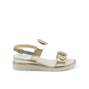 Sandalo platino con cerchi Melluso