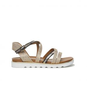 Sandalo beige/nero Keys
