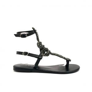Sandalo nero con serpente Mosaic