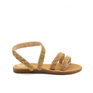 Sandalo naturale/oro Mosaic