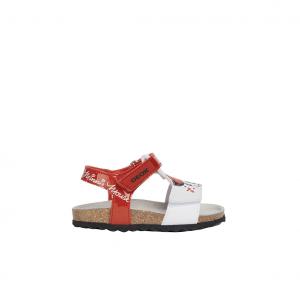 Sandalo rosso/bianco Minnie Geox