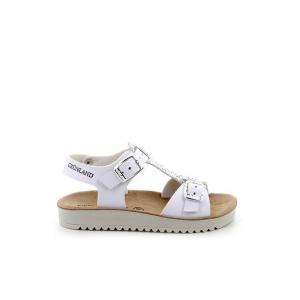 Sandalo bianco/argento Grunland