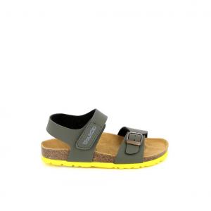 Sandalo oliva/giallo Grunland