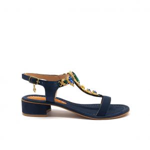 Sandalo blu Gardini
