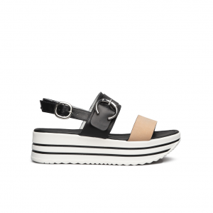Sandalo platform nero/cipria NeroGiardini
