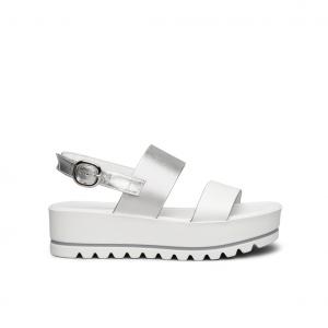 Sandalo platform bianco/argento NeroGiardini