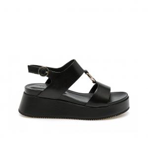 Sandalo platform nero Apepazza