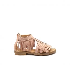 Sandalo cipria con frange Dianetti