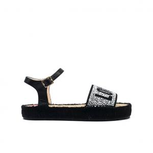 Sandalo nero Love Moschino