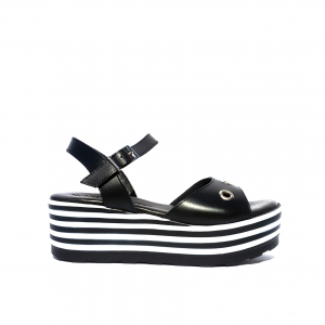 Sandalo nero Raquel Perez