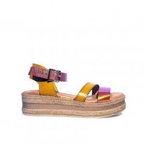 Sandalo giallo/rosa Raquel Perez