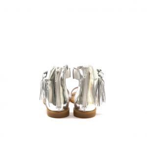 Sandalo bianco con frange NeroGiardini