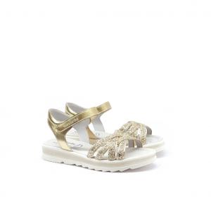 Sandalo oro/glitter NeroGiardini