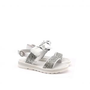 Sandalo argento/glitter NeroGiardini