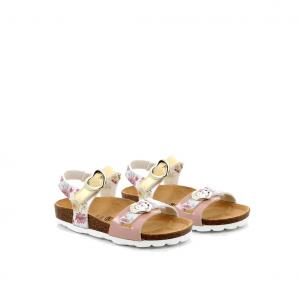 Sandalo paglia/multi Grunland