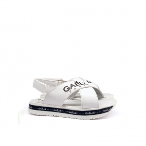 Sandalo platform bianco Gaelle Paris