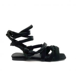 Sandalo gladiatore nero Janet & Janet