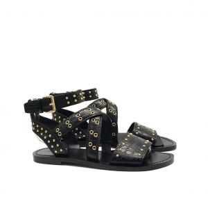 Sandalo nero in cocco Guess