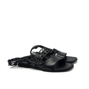 Sandalo alla schiava nero Mjus